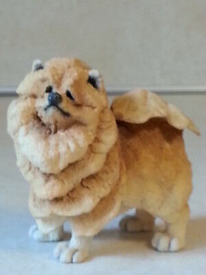 Red Chow Chow Dog Puppy Figurine Unique Personable