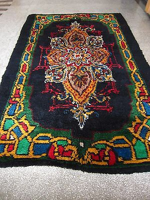 Antique Bulgarian Carpet Floral Medallion Tufted Wool Area Rug Teppich Tapis