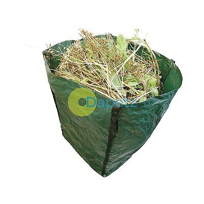 Large Garden Waste Bag Strong Rubbish Sack Waterproof Heavy Duty Reusable 360 L