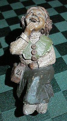 Tom Clark Gnome Woodspirit Bench Sitter Madre W/coin Ed #21 1984 Signed & Dated