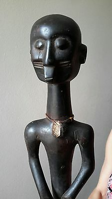 antique african wood statue