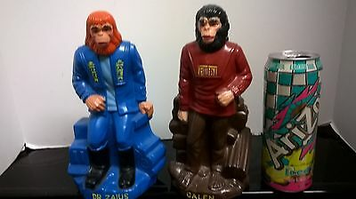 VINTAGE MONSTER 1967 PAIR  Plastic bank Galen and Dr. Zaius Play Pal 1967