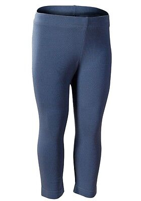 Girls Blue 3/4 Length Elasticated Waist Stretchy Leggings Stretchy Jeggings.5-10