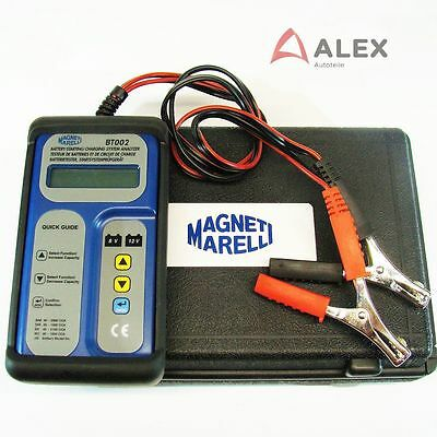 LCD Auto Batterie und Ladesystem Tester 6/12V inkl. Koffer Magneti Marelli