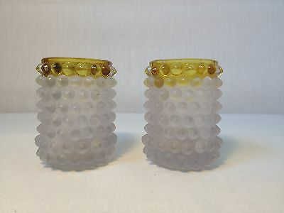 Pair Antique Hobbs Brockunier Frances Toothpick Holders