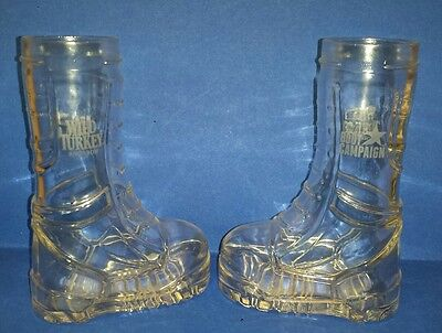 Original WILD TURKEY WHISKEY COMBAT BOOT CAMPAIGN Military Collectible