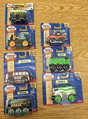 lot of thomas the train and friends wooden railway 7 trains