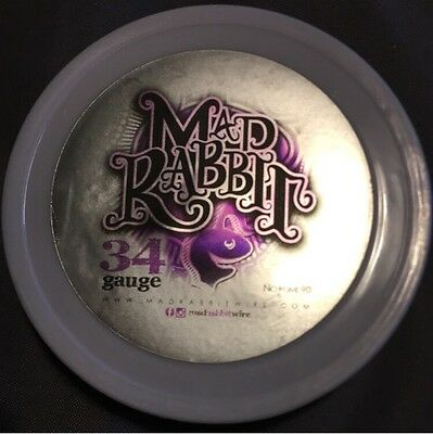 34g Mad Rabbit Nichrome 90 Competition Wrap Wire -250ft (Clapton, Alien, Staple)