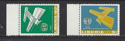 Liberia - 464 - 465 - Mnh - 1967 Issues - Who Office In Brazzaville, Congo