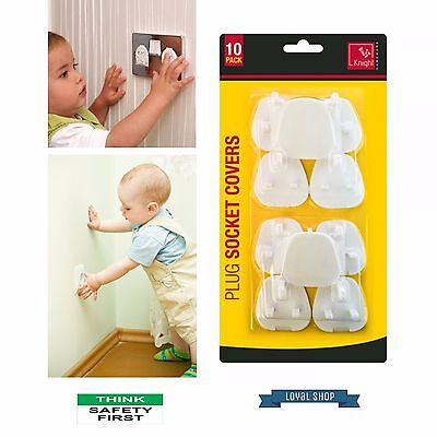 PLUG SOCKET COVERS - 10/20 x CHILD BABY PROOF MAINS ELECTRICAL SAFETY INSERTS