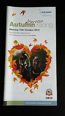 Richard Hughes Unsigned Race Card - 15 Oct 2012 At Windsor