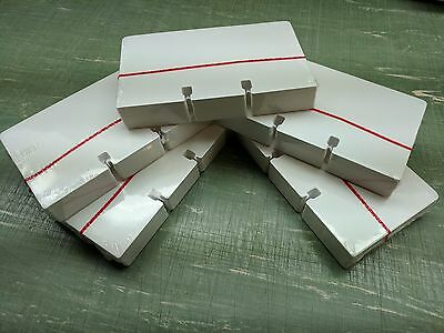 5 Packs of 100 ROLODEX 3 x 5 Rotary File Refill Cards PLAIN WHITE  NEW SEALED