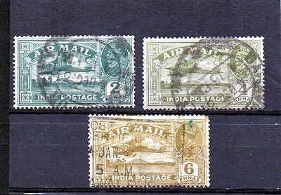India 1929 KGV airmail stamps