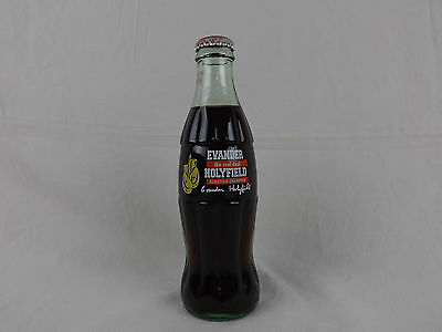 Coca Cola Limited Edition Evander Holyfield Bottle Coke Collect 1996 Boxing