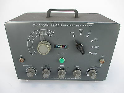 Vintage Heathkit Color Bar & Dot Generator Model CD-1
