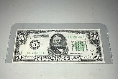 Series 1934 United States Federal Reserve Note $50.00 Fifty Dollars Excellent