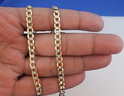 10k Yellow Gold Diamond Cut Cuban Link Chain Necklace 5mm