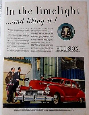 1947 Hudson Commodore - 4 Door Classic Vintage Advertisement Car Print Ad