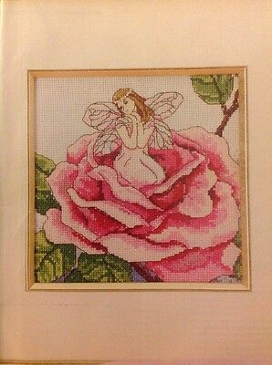 (H) Spirit Of The Rose Flower Fairy Cross Stitch Chart