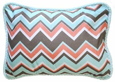 New Arrivals Accent Pillow, Piper in Aqua, Baby Girl Nursery Decor