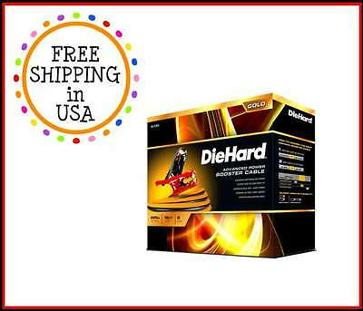 DIEHARD GOLD Car Battery Charge Red Black Booster Jumper Cable 16FT 225A 6 Gauge