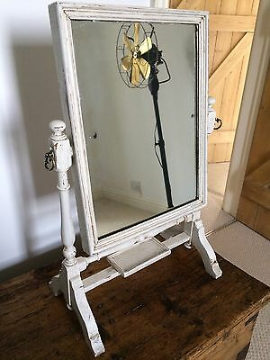 Antique Victorian Painted Dressing Table Toilet Tilting Mirror Mahogany / Pine