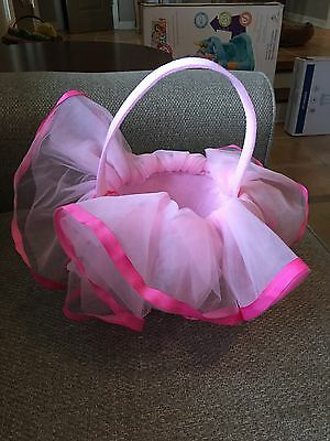 Mud Pie Baby Girl Easter Pink Tutu Basket New With Tags