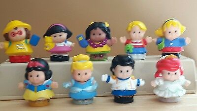 Fisher Price Little People Lot of 9 with Disney Princesses