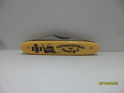 VIETNAM VETERAN and  PROUD OF IT NOVELTY KNIFE  BY FROST NEW ITEM