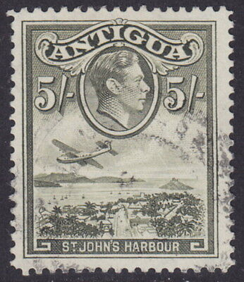 ANTIGUA - 1938 5s Olive-green - Used