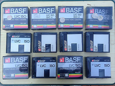 LOT 6 BASF VCR CHROMDIOXID VIDEO CASSETTE LVC 150 SVC 4 vintage camescope