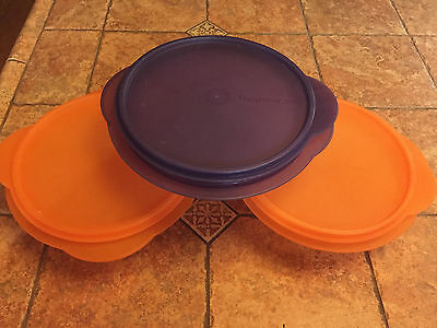 Tupperware Collapsible Bowls 4 Cup Lot of 3