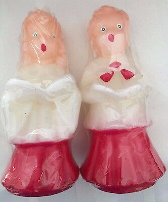 "NIP 2 Caroler Candles~Vintage Style~Little Boy & Little Girl ~ 5"" Tall"
