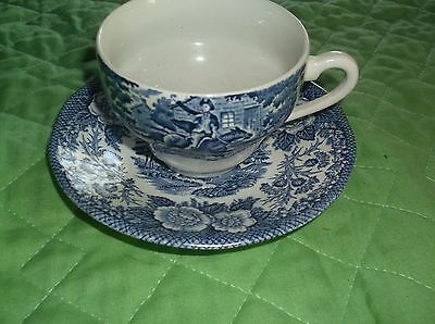 Blue  Willow   Cup  And  Saucer   Collectible