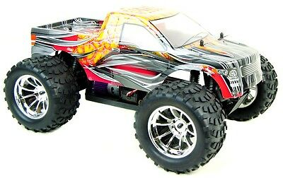 HSP Bug Crusher Electric RC Radio Control Car Monster Truck 2.4GHz Orange Flame