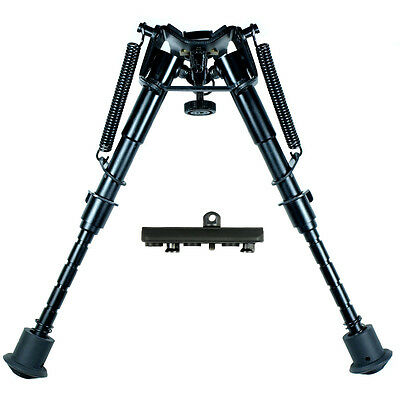 "6"" to 9"" Adjustable Spring Return Sniper Hunting Rifle Bipod w/ KeyMod Adapter"