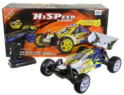 HSP Vortex  4WD Electric RC Remote Radio Control Buggy Car Blue and Yellow RTR