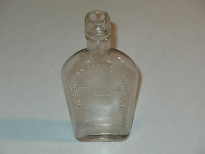 Vintage Coffin Whiskey Flask ~Flowers Manufacturing Co.~ Greenville,tenn~ Nice