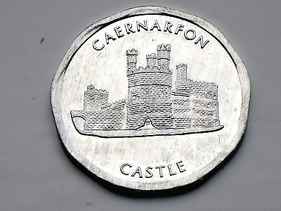 GB-50p NATIONAL TRANSPORT Aluminum TOKEN -CAERNARFON CASTLE