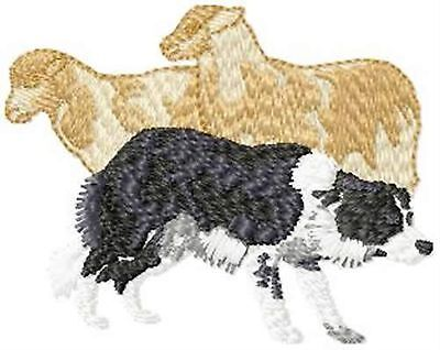 Border Collie Herding Sheep Embroidery Patch