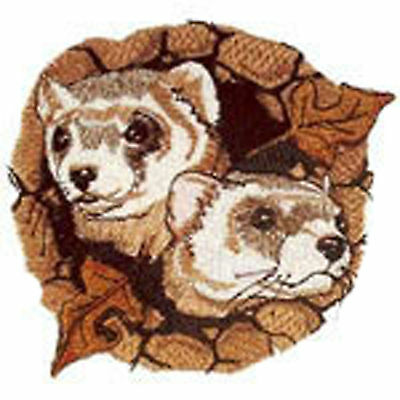 Ferrets Black Footed Young Embroidery Patch