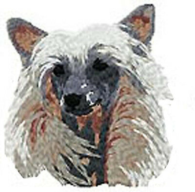 Chinese Crested Dog Portrait (b) embroidery Patch