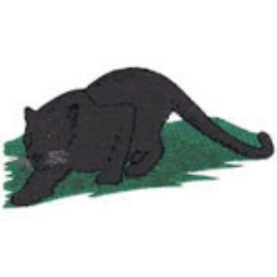 Black Panther full body with grass  Embroidery Patch