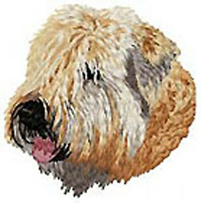 Irish Soft Coated Wheaten Terrier Portrait (b) Embroidery Patch Auction