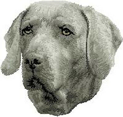 Weimaraner portrait embroidery patch