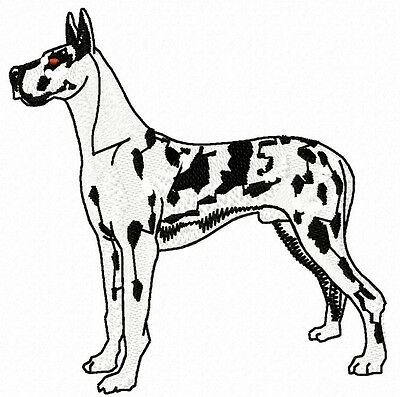 Great Dane (harlequin) embroidery Patch