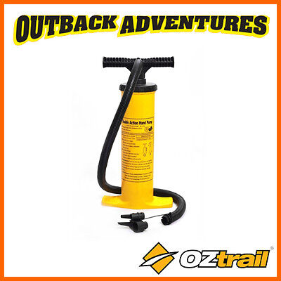 Oztrail Double Action Hand Pump - Inflatable Bed / Mattress / Toy Pump