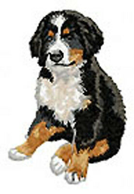Bernese Mountain Dog Puppy sitting Embroidery Patch (t)