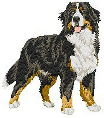 Bernese Mountain Dog Portrait Standing embroidery Patch (a)