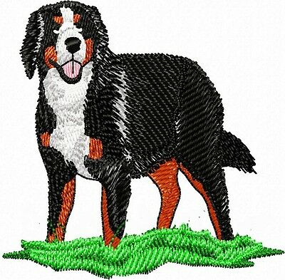 Bernese Mountain Dog  with Patch Grass Embroidery Patch